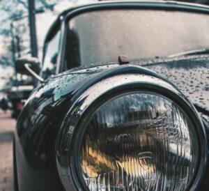 Headlamp on Classic Car