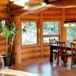 Custom Log Home Interior