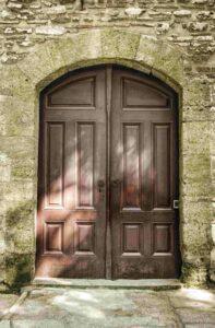 Entry -Stone Masonry House